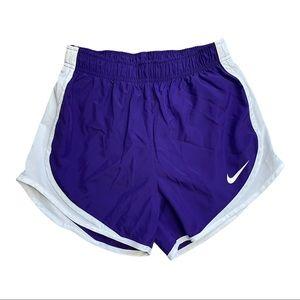 Nike Girls Dri-Fit Running Shorts Purple Size XS